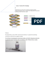 Lesson 4. Trends in DNA Technology