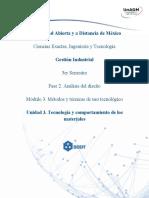 GIMTT U3 Tecnología y Comportamiento de Los Materiales