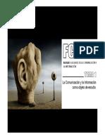 la informaciòn y la comunicaciòn como objeto de estudio