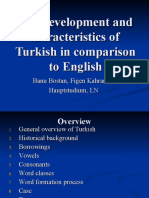 The development and characteristics of Turkish