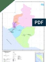 Peta Administrasi Kecamatan Kabupaten Nagan Raya Provinsi NAD