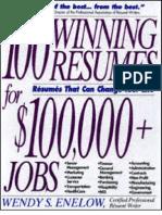 100 Winning Resumes for $100,000+ Jobs