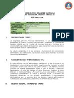 GUIA DIDÁCTICA 231 Derecho Procesal Administrativo (1)