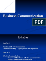 FYBMS- Business Communication
