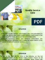 Quality Service Lane 2020