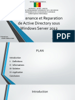 Maintenance et Reparation de Active Directory sous Windows - Copie