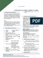 FICHA TECNICA - PINTURA ESMALTE SINTETICO TAMSA GRIS CLARO