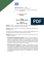 Proyecto de Ley 066 de 2020 Estatuto de La Conciliacion