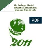ACMUN 2011 Delegate Handbook