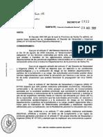 Decreto 922 de Santa Fe