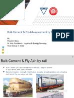 Railway presentation cement with flyash