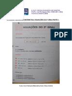 Aula Equações Do 2º Grau Parte 1