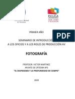 Apunte Nº3 - El diafragma y la profundidad de campo - 2020