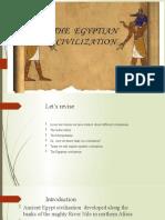 the Egyptian civilisation part 1