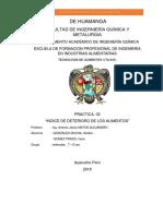 .indice de deterioro de los alimentos 2°PRACTICA
