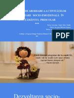 Dezvoltare Socio-emotionala