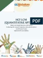 HCF & LCM