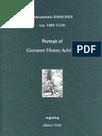 RAIMONDI, Marcantonio • Portrait of Giovanni Filoteo Achillini (engraving, before 1510)