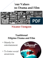 LIT102A - Four Values in Filipino Drama and Film-1