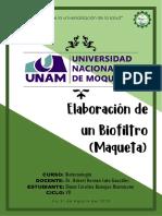 Elaboración de un Biofiltro (Maqueta)