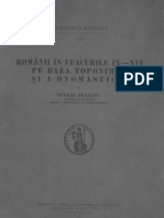 Românii în veacurile IX-XIV pe baza toponimiei şi a onomasticei