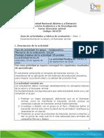 Guia de actividades y Rúbrica de evaluación - Paso 1 - Reconocimiento en la salud y el bienestar animal