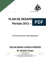 PLAN DE DESARROLLO AMALFI 2012-2015 APROBADO