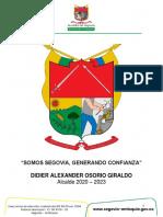 PLAN DE DESARROLLO SOMOS SEGOVIA GENERANDO CONFIANZA 2020-2023 (1)