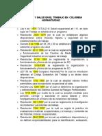 SEGURIDAD Y SALUD EN EL TRABAJO EN  COLOMBIA  NORMATIVIDAD.docx