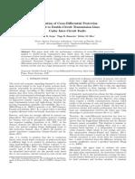 Avaliação da Proteção Diferencial Transversal Aplicada a Linhas de Transmissão de Circuito Duplo Perante Faltas Inter-Circuitos