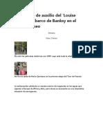 La llamada de auxilio del 'Louise Michel', el barco de Banksy en el Mediterráneo