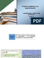 N01I-1A-El texto académico argumentativo (ppt) 2018-3
