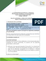Formato Guia de actividades y Rúbrica de evaluación - Tarea 1 - Origen y reconocimiento de los insectos