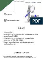 CARTILLA DE NORMATIVIDAD NIA 265 Y NTC -