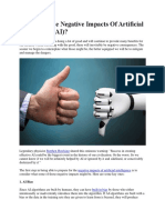 Impact and Negative Effect of AI