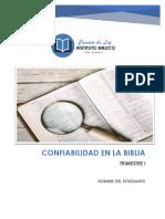 3. Confiabilidad en la Biblia