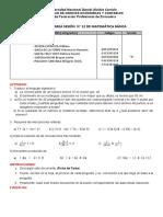 FICHA DE TAREA SESIÓN  No 12 DE MATEMÄTICA BÁSICA