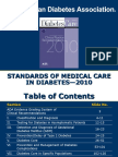 ADA Standards of Medical Care 2010 FINAL