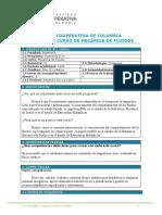 PROGRAMA DE CURSO MECANICA DE FLUIDOS I. NOVOA