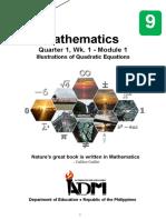 MATH 9_Q1_Mod1_IllustrationsOfQuadraticEquation_Version3