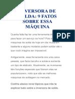 INVERSORA DE SOLDA