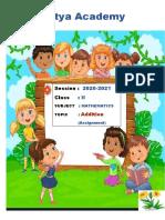 Maths Addition Assignment