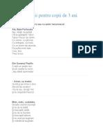 Poezii Copii de 3 ani