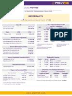 Indicadores Previsionales PreviRed Febrero-20