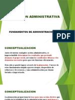 9.- PLANEACION ADMINISTRATIVA. Fundamentos.