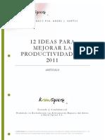 12 Ideas para mejorar la Productividad
