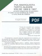 ARAVANIS, Evangelia. A utopia anarquista em Porto Alegre nos anos de 1906 e 1907. (1996)