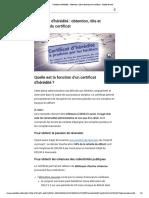 Certificat d'hérédité _ obtention, rôle et fonction du certificat - Mode lecture
