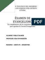 examen de Evangelismo