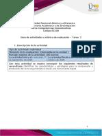 Guía de actividades y rúbrica de evaluación - Unidad 1 - Tarea 2 - Leer, escribir y argumenta